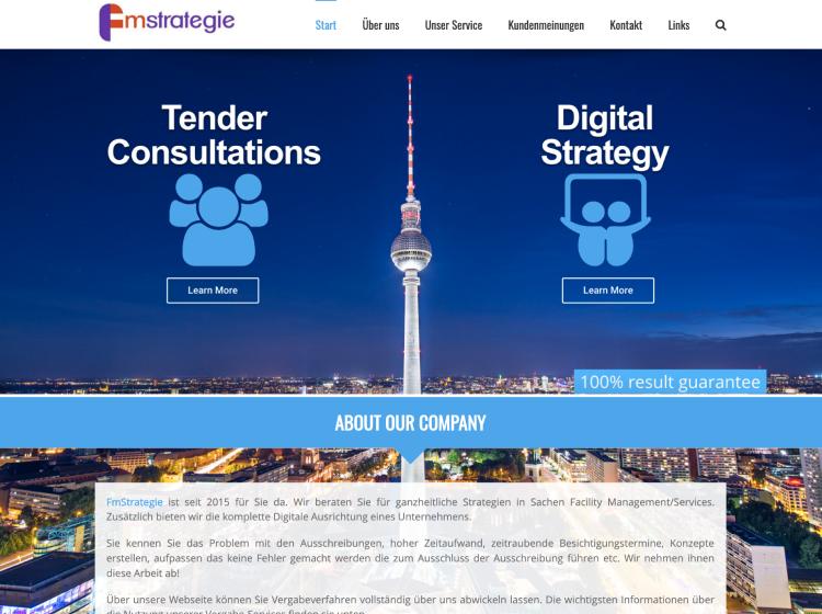 Project Screenshot - http://www.fmstrategie.de/