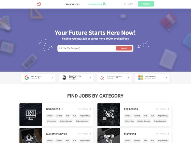 Project Screenshot - https://work.cgpsystems.cz/Jobily/