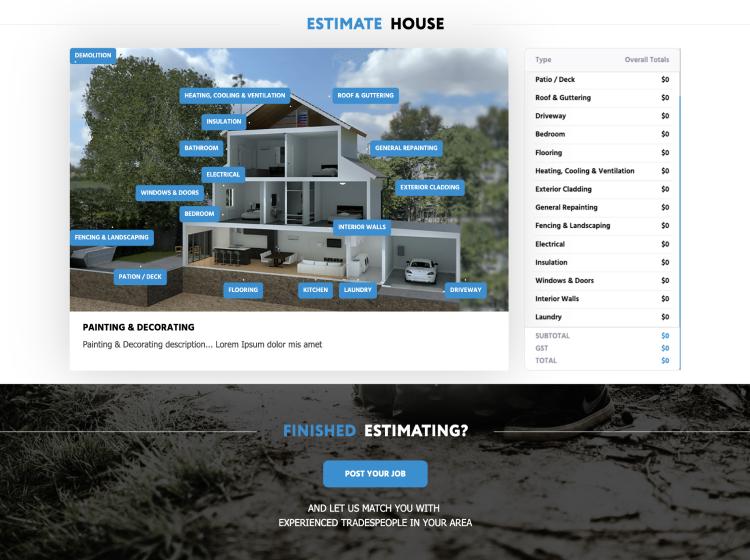 Project Screenshot - https://work.cgpsystems.cz/estimate.co.nz/
