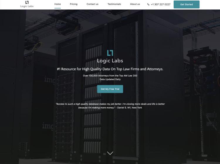 Project Screenshot - http://www.logiclabsllc.com