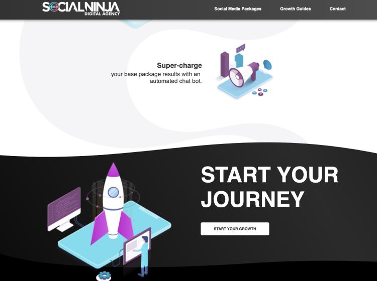 Project Screenshot - https://www.socialninja.com.au