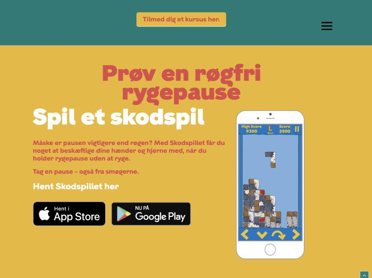 Project Screenshot - http://rogfrirygepause.dk