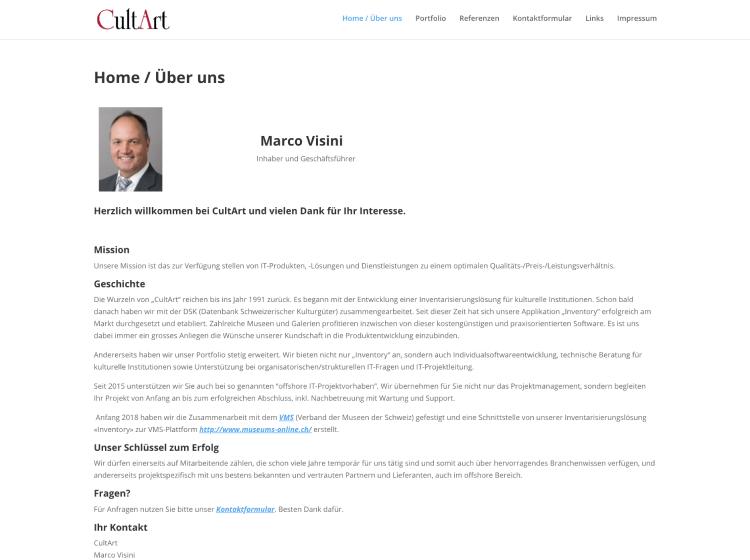 Project Screenshot - http://cultart.ch/inventory/site/login