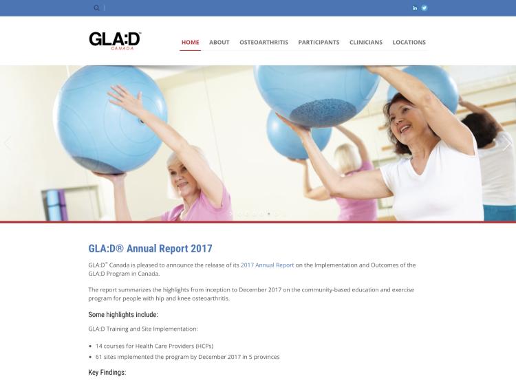 Project Screenshot - https://gladcanada.ca/