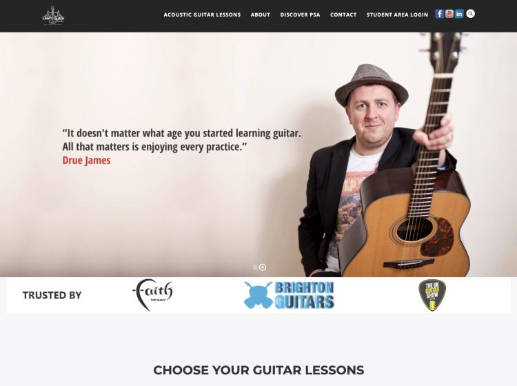 Project Screenshot - https://www.learnguitarinlondon.com/